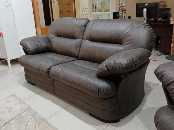 кожаный диван Батлер с механизмом трансформации Седафлекс