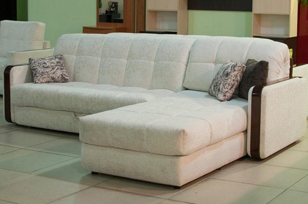 Большой угловой диван с механизмом аккордеон
