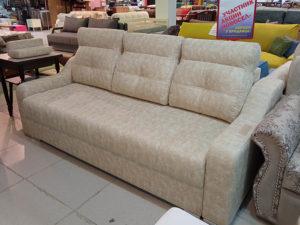 Раскладной диван на металлокаркасе с механизмом еврокнижка