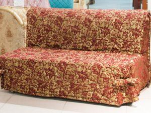 Малогабаритный диван-аккордеон красный