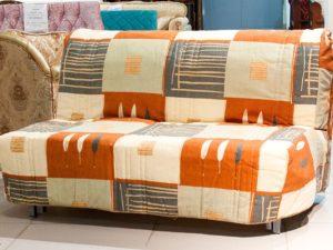 Малогабаритный диван-аккордеон бежевый