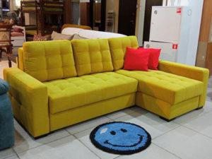 угловой диван пантограф Лион жёлтый