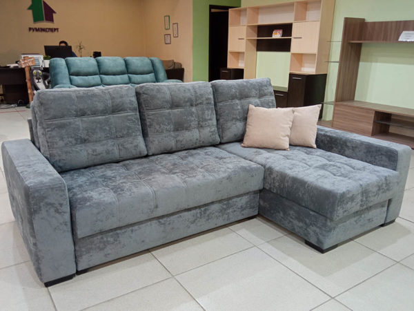 угловой диван пантограф Лион серый