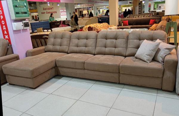 угловой выкатной диван бежевый Мадрид