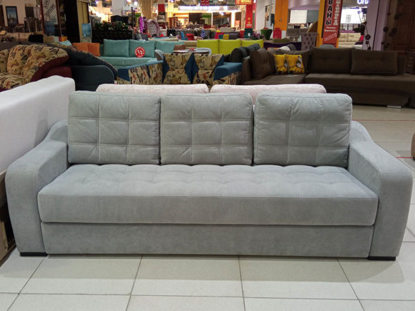 выкатной прямой диван Манито с бельевым ящиком