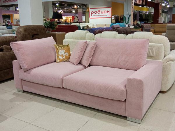 прямой Диван Милан розовый