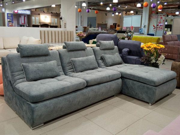 Модульный диван Magnum серый раскладной