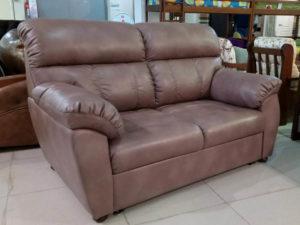 Кожаный диван с механизмом на каждый день