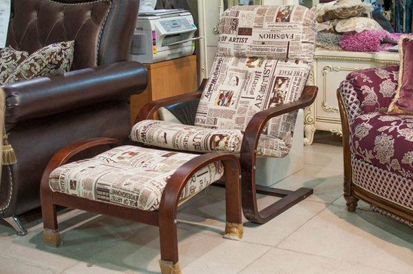 Кресло с пуфом Ореон