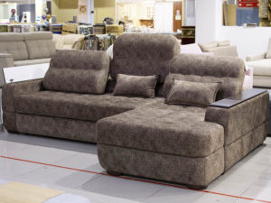 Угловой выкатной диван Мадрид-2 коричневый