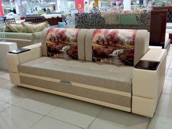 диван-кровать с выкатным механизмом на металлокаркасе.