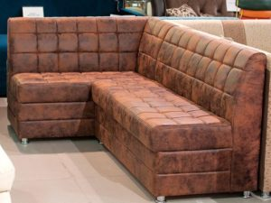 Угловой кухонный диван с ящиками для хранения под сиденьями